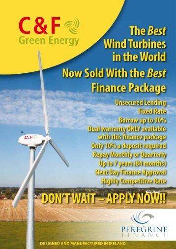 Wind turbine finance application form - C & F Green Energy