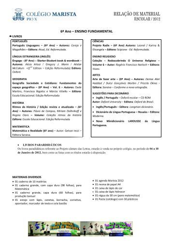 Ensino Fundamental - 6º Ano