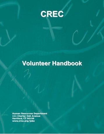 Volunteer Handbook - Capitol Region Education Council