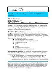 Temporomandibular Joint Disorders - BMC HealthNet Plan
