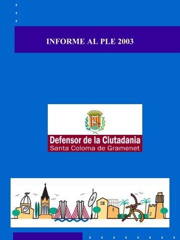 Informe2003cat.pdf - Ajuntament de Santa Coloma de Gramenet