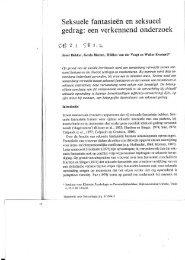 Seksuele fantasieën en seksueel gedrag - Tijdschrift voor Seksuologie