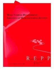 Wind Turbine Development: Location of Manufacturing Activity – REPP