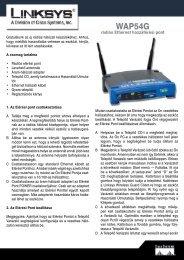 Linksys WPC54G Telepítési útmutató - ITCapital