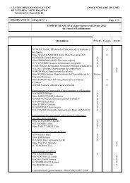 CE du 20 juin 2012 - Direction des Enseignements Secondaires