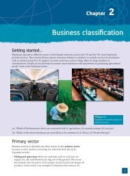 Chapter 2 -- Business Classification - Pearson Schools