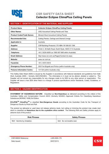 Usg Acoustical Plaster : Gypsum accelerator csr