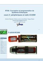 cours 3: périphériques et radio CC2500 - INSA de Lyon