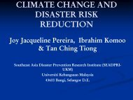 climate change and disaster risk reduction - Akademi Sains Malaysia