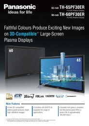 Faithful Colours Produce Exciting New Images on 3D ... - Panasonic