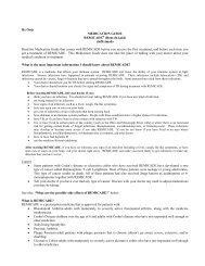 REMICADE MEDICATION GUIDE rev 11-09