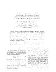 General adaptive control for nonlinearly ... - Pierre Apkarian