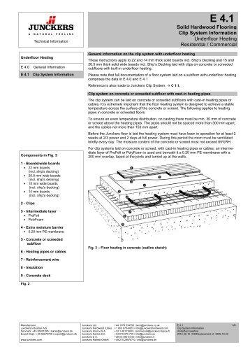 Solid Hardwood Flooring Clip System Information ... - Junckers