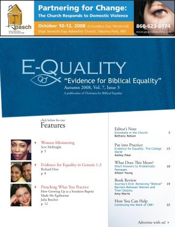 Features - Christians for Biblical Equality