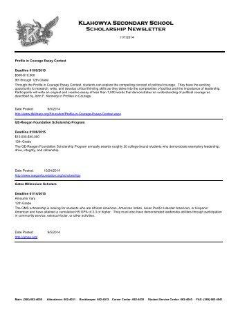 Scholarship List In Order Of Deadline