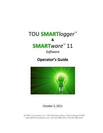 SMARTlogger/SMARTware Manual - DENT Instruments