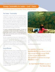 Strategic Sustainability for Leaders – Level 1 Course - Q4 Consulting