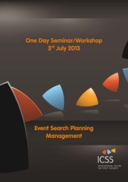 One Day Seminar/Workshop 3rd July 2013 Event Search Planning ...