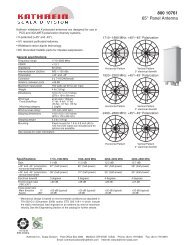 800 10761 65° Panel Antenna - Kathrein Scala Division