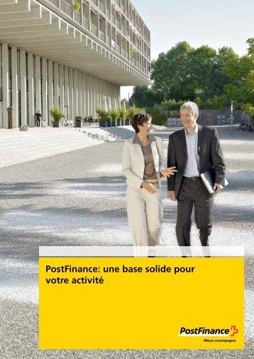 Postfinance: une base solide pour votre activité