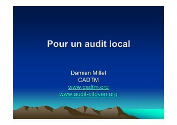 2012 Audit local - cadtm
