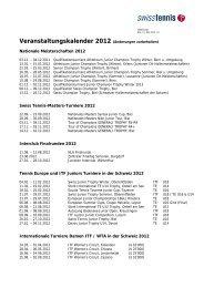 Veranstaltungskalender 2012 (Änderungen ... - Swiss Tennis