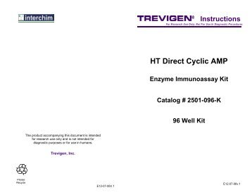 HT Direct Cyclic AMP Enzyme Immunoassay Kit - Interchim