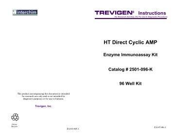 HT Direct Cyclic AMP Enzyme Immunoassay Kit - Interchim