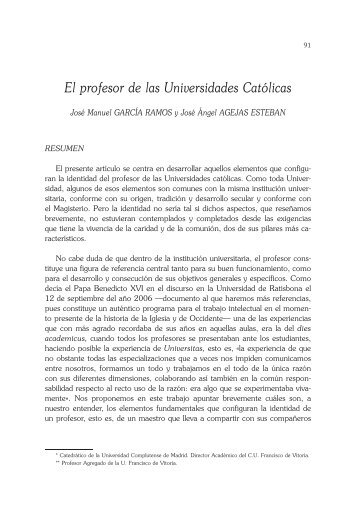 El profesor de las Universidades Católicas.pdf