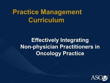 Practice Management Curriculum - Louisiana Oncology Society