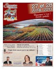 Annonces municipales - 24 avril 2013 - Ville de Thetford Mines