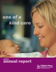 one of a kind care - Children's Mercy Hospitals and Clinics