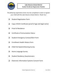 Student Registration Form Copy of Birth Certificate - Lake Stevens ...