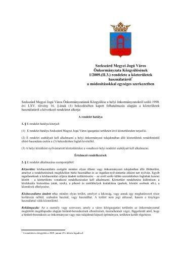 Szekszárd Megyei Jogú Város Önkormányzata Közgyűlésének 1 ...