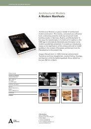 architectural Models a Modern Manifesto - RIBA Bookshops