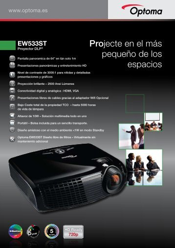 EW533ST Ficha Producto - Optoma