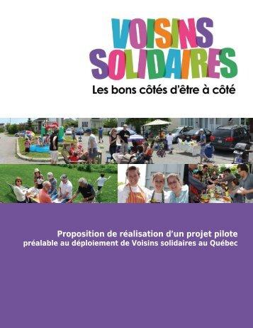 Consultez la présentation complète du projet - Réseau québécois ...