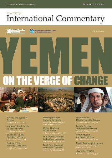 Yemen on the verge of change - ITPCM - Scuola Superiore Sant'Anna