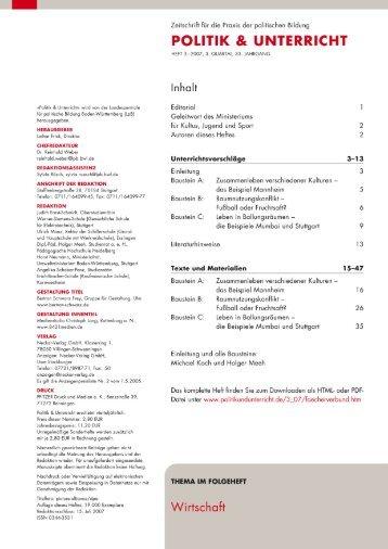 politik & unterricht - Neckar Verlag