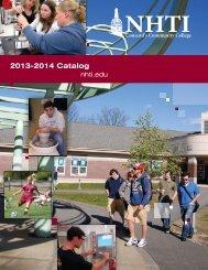 NHTI, Concord's Community College Catalog 2013-2014