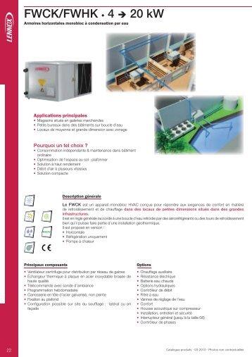 FWCK/FWHK • 4 → 20 kW - Annuaire
