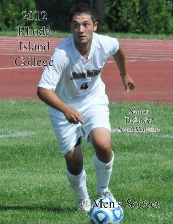2012 Men's Soccer Media Guide - Rhode Island College Athletics