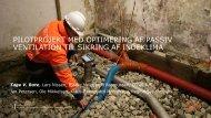 pilotprojekt med optimering af passiv ventilation til sikring af indeklima