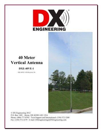 40 Meter Vertical Antenna - DX Engineering