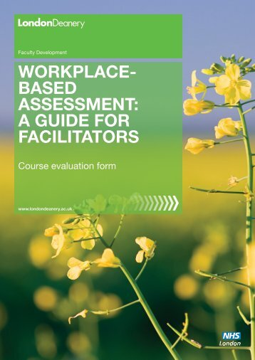 WORKPLACEd BASED ASSESSMENT - Faculty Development ...