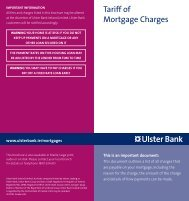 Tariff of Mortgage Charges - Ulster Bank