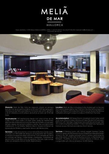 Situación: Meliá de Mar, hotel de negocios, situado en ... - melia