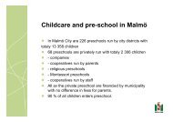 Childcare and pre-school in Malmö