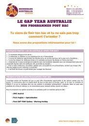 le gap year australie - Boomerang Australia Studies & Consulting