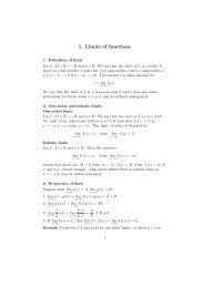 1. Limits of functions